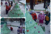 Зимний участок для наших малышей